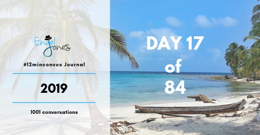 #12minconvos podcast with Engel Jones Day 17 of 84