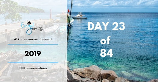 #12minconvos podcast with Engel Jones Day 23 of 84