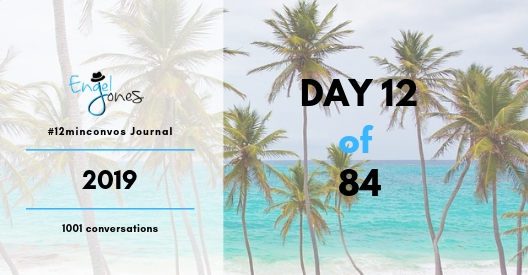 #12minconvos podcast journal with Engel Jones Day 12